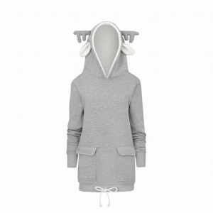 "BLUZA ""I am Reindeer''/gray"