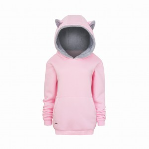 "Sweatshirt ""loved animals"" / pink cat"