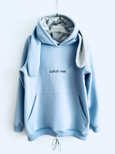 "BLUZA ""Catch me! ...If you can""/ blue"