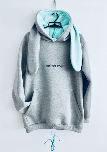 "BLUZA ""Catch me! ...If you can""/ gray-mint"